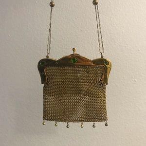 Antique Gold Bag with gems circa 1930s